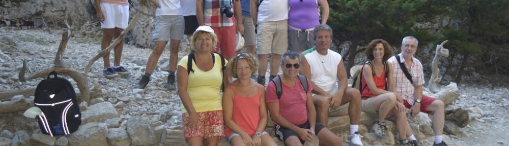 Group Photo inside Imbros Gorge!