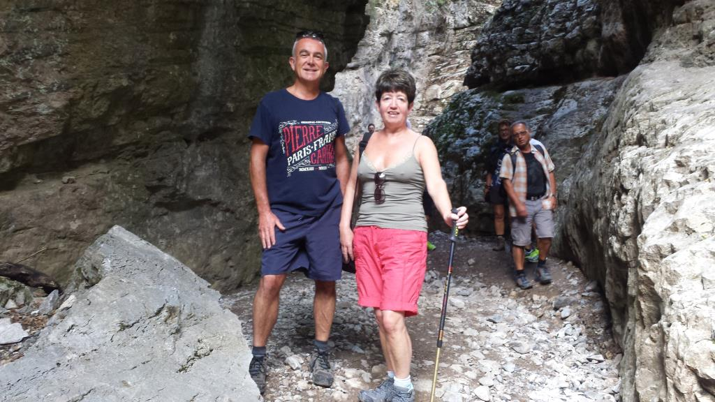 Hiking Through Imbros Gorge